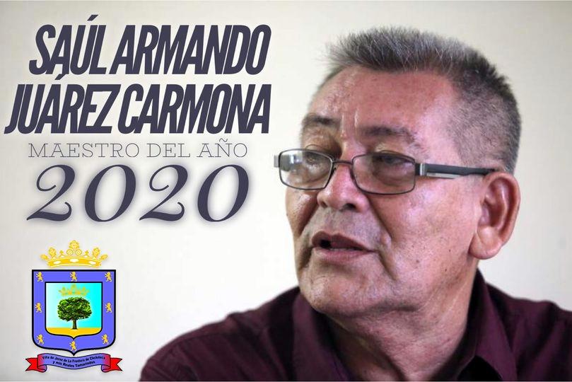 SAUL A. JUAREZ ES GALARDONADO POR LA MUNICIPALIDAD