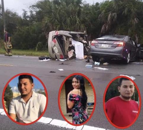 Tres hondureños mueren trágicamente en USA