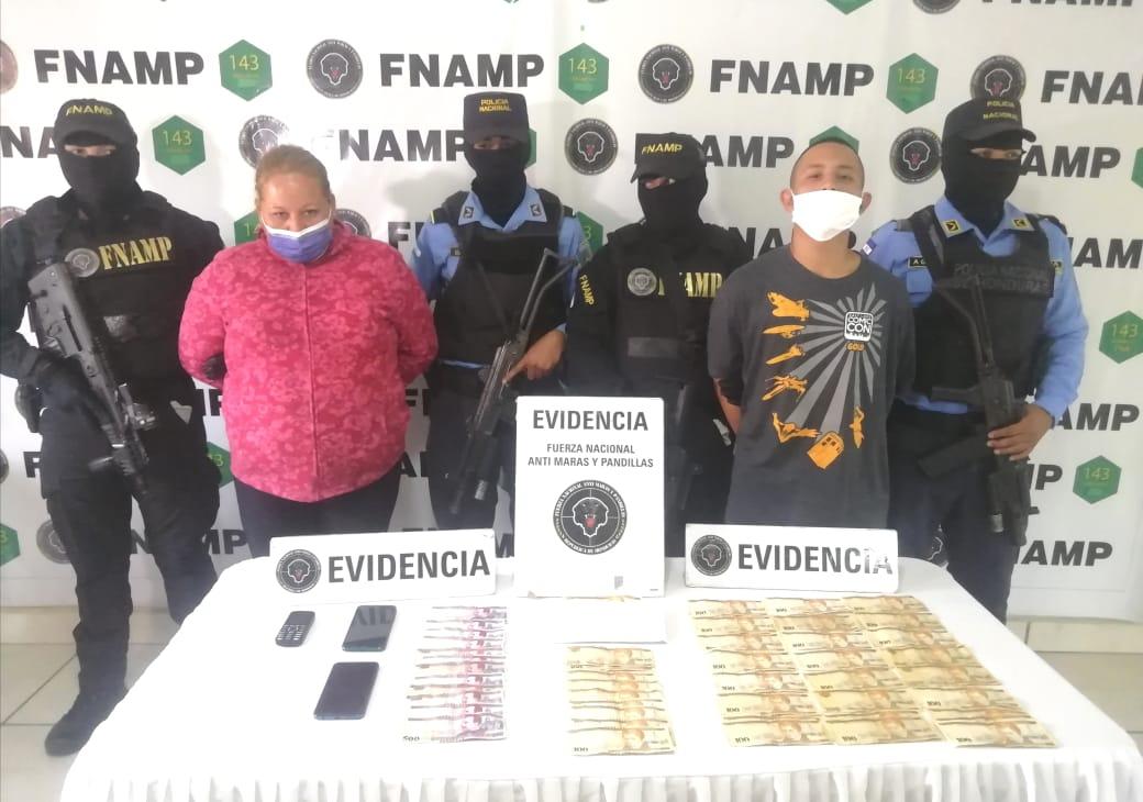 La FNAMP en coordinación con la Policía Nacional  capturan a madre e hijo mientras realizaban ronda de cobro de extorsión en la capital