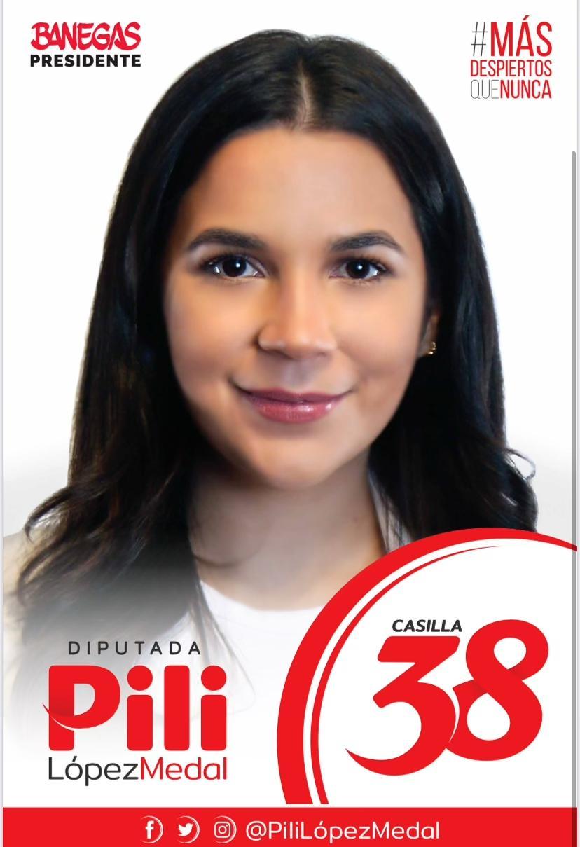 Elisa del Pilar «Pili» López Medal,  precandidata a diputada por el Partido Liberal de Honduras.