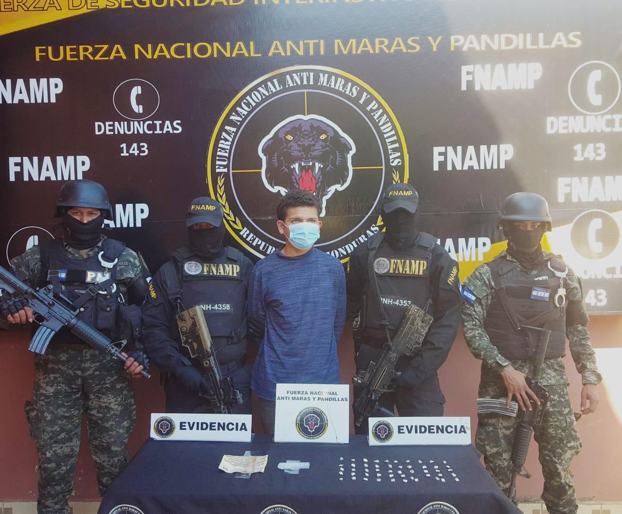 """FNAMP Captura a """"El Chino"""" con Droga en El triunfo Choluteca"""