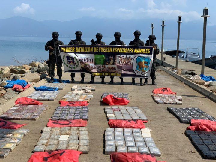 FFAA  Asegura 739  paquetes de supuesta cocaína en Trujillo.